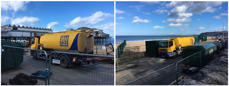 Quad Fuels Assists in Colwyn Bay Pier Dismantling